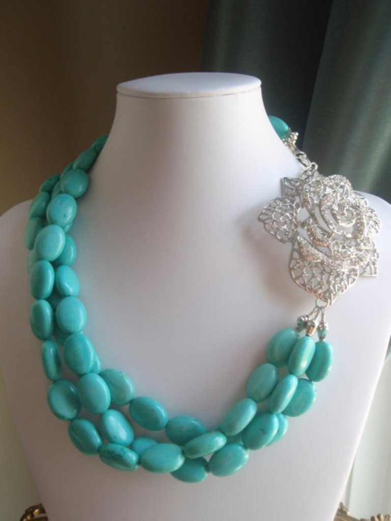 """il_570xN.153333182 Turquoise jewelry """" The Stone of the Sky & Earth"""""""