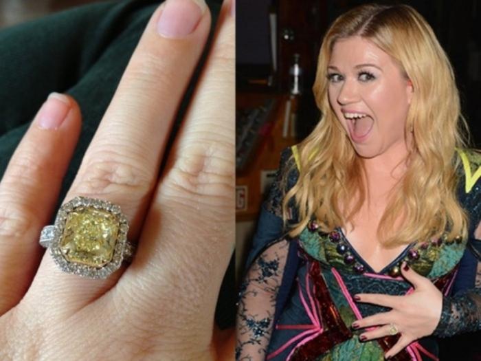 kelly-clarkson-yellow-diamond-engagement-ring-1024x768 The Rarest Yellow Diamonds & Their Breathtaking Beauty