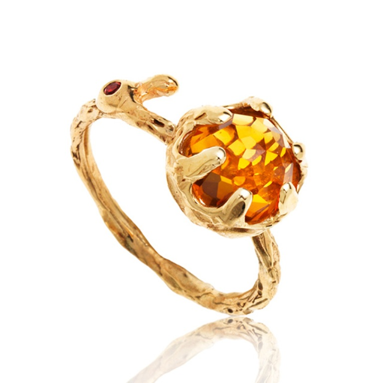 kr_engagement-ring-citrine-organic-gold_02 Top 10 Non-Diamond Engagement Ring Types for a More Unique Proposal