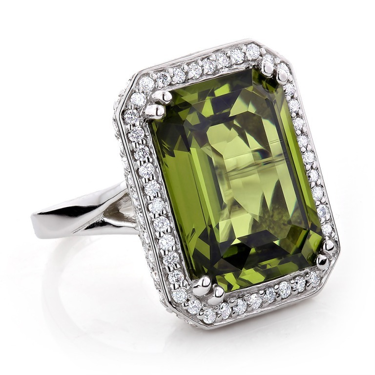 ladies-14k-gold-peridot-quartz-gemstone-diamond-cocktail-ring-175ct_1 Most Exclusive Peridot Jewelry that Shines Even at Night