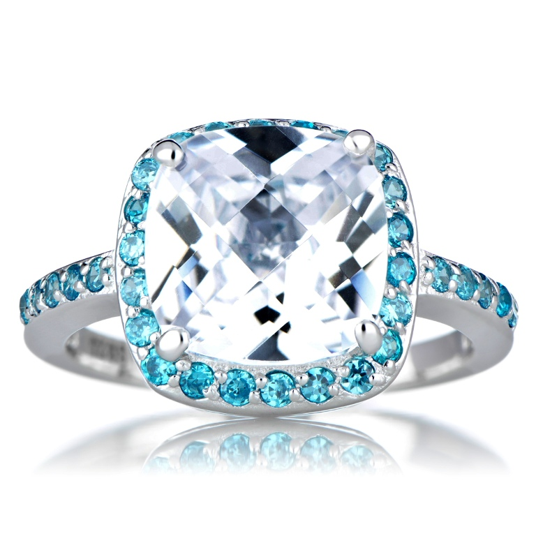 marina-s-cz-cushion-cut-engagement-ring-blue-60 Cushion Cut Engagement Rings for Beautifying Her Finger