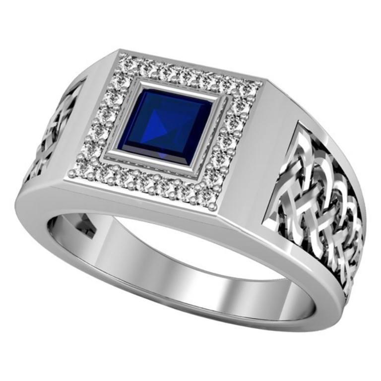 mens-diamond-and-sapphire-ring-rin-mgm-0114 Men's Diamond Rings for More Luxury & Elegance