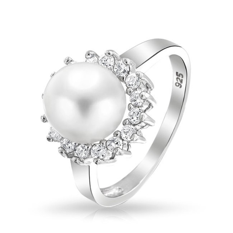 pearl-engagement-cz-halo-ring_yly-s-3985-az1 Top 10 Non-Diamond Engagement Ring Types for a More Unique Proposal