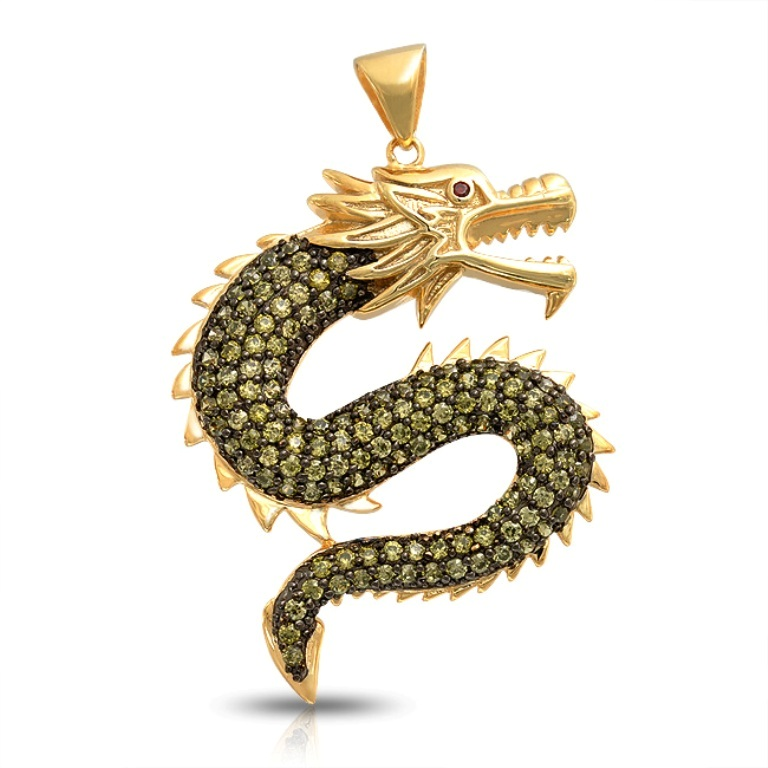 peridot-dragon-gold-vermeil-pendant_hf-p08105 Most Exclusive Peridot Jewelry that Shines Even at Night