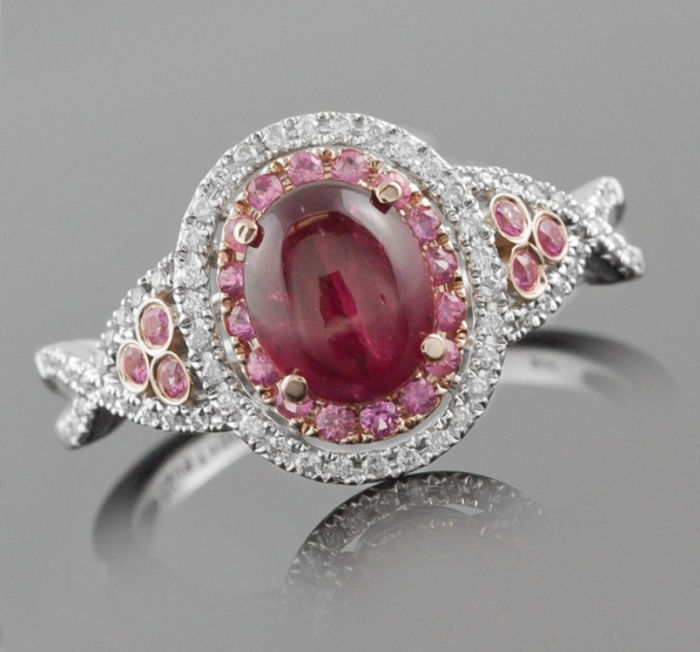 pink-sapphire-engagement-rings-with-diamonds Most Famous Romantic & Unique Jewelry with Pink Diamonds