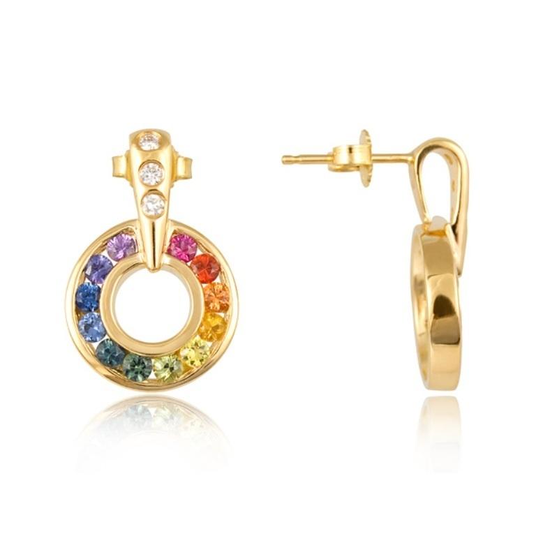 rainbow-sapphire 25 Mysterious Rainbow Jewelry Designs
