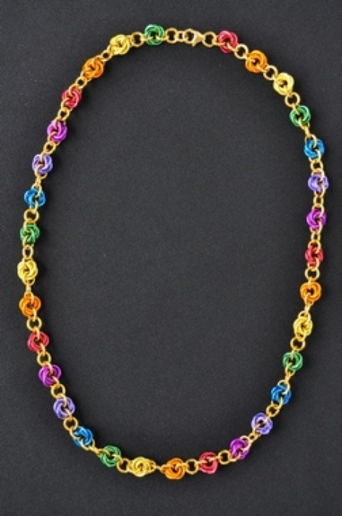 rainbow_mobius_necklace 25 Mysterious Rainbow Jewelry Designs