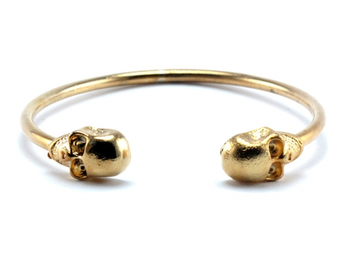 sammy-skull-bracelet-bangle-gold Skull Jewelry for Both Men & Women