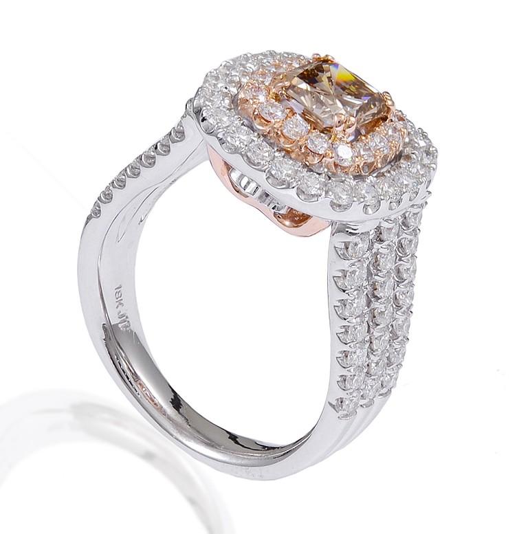 shank-cushion-cut-chocolate-diamond-rose-gold-engagement-rings-wedding-ring-cushion-ideas Cushion Cut Engagement Rings for Beautifying Her Finger