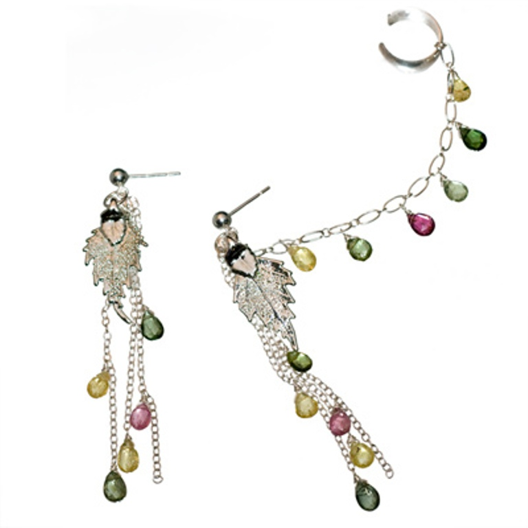slave_leaf_tourm.400 Slave Earrings For Catchier Ears & Fashionable Styles ...