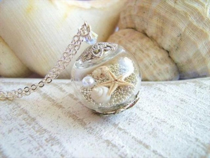 starfish-necklace-real-seashell-jewelry-hollow-glass-globe-beach-wedding-jewelry-bridesmaids-necklace Seashell Jewelry as a Natural Gift