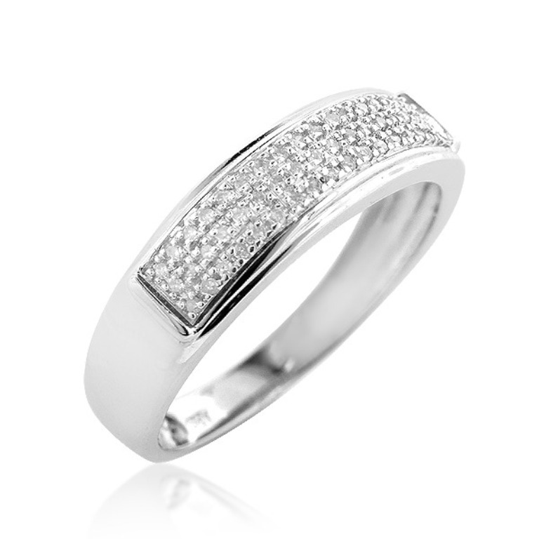 sterling-silver-wedding-bands-mens-diamond-ring-034ct_2 Men's Diamond Rings for More Luxury & Elegance