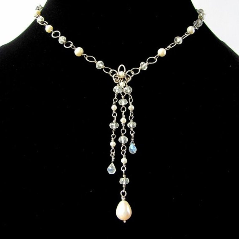 sterling-silver-y-necklace-pearls-white-topaz-rain-UDU2Ny05NzM5OC4zMDY0MzU Moonstone Jewelry Offers You Fashionable Look & Healing properties
