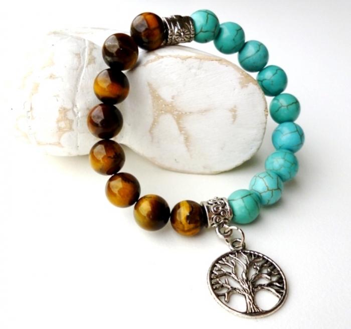 tree-of-life-colour-block-bracelet Tiger Eye Jewelry & Its Unusual Properties