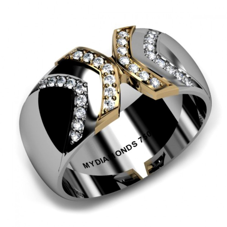 unique-mens-diamond-wedding-rings-picture Men's Diamond Rings for More Luxury & Elegance