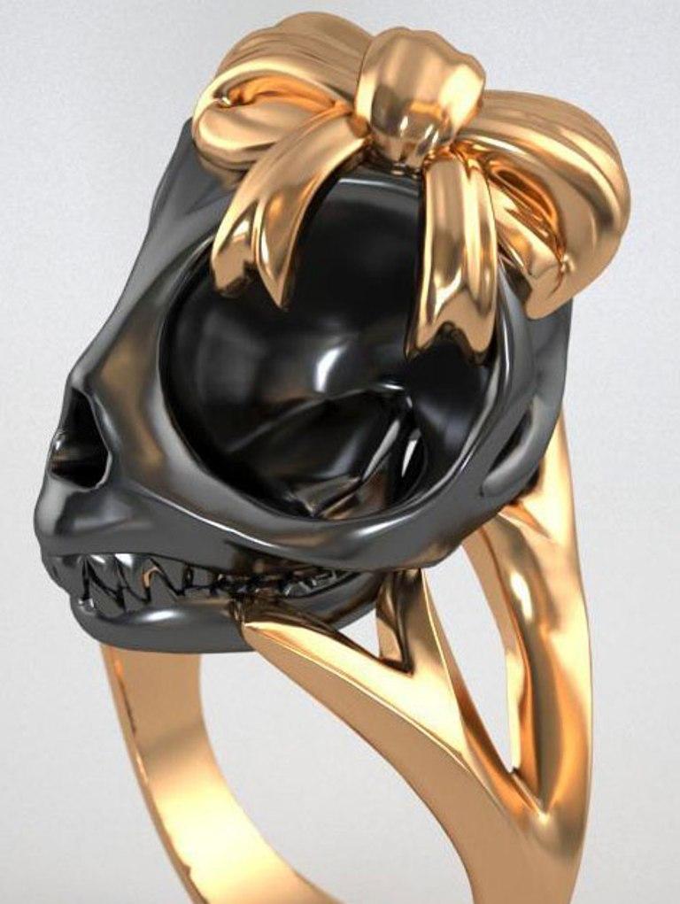 violet-darkling-black-skull-ring-bow Skull Jewelry for Both Men & Women