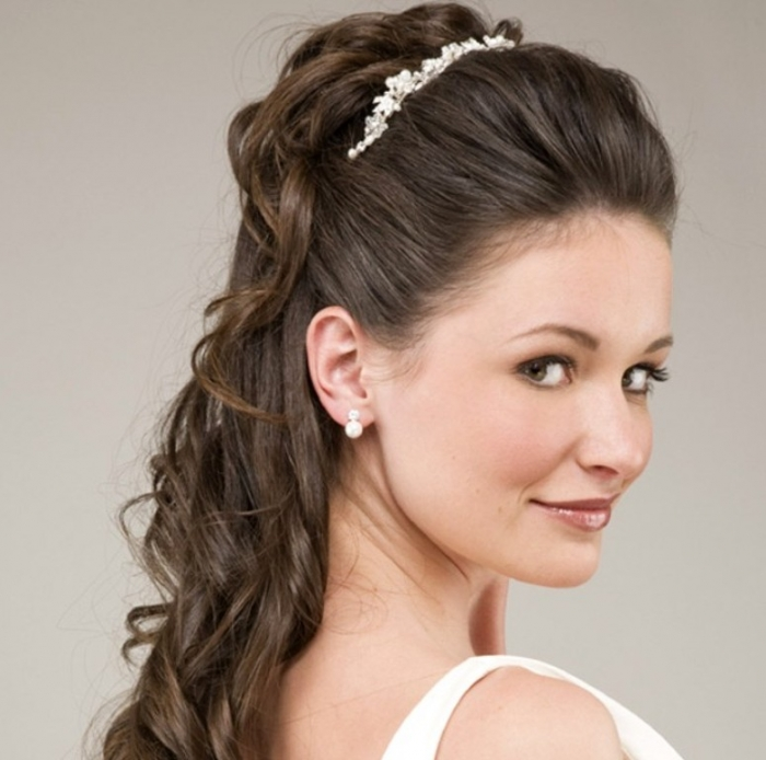 """wedding-updo-hairstyles """"Wedding Headbands"""" The Best Choice for Brides, Why?!"""