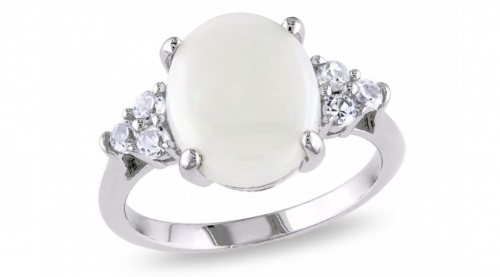 white-opal-engagement-rings-8ovidtt0 Top 10 Non-Diamond Engagement Ring Types for a More Unique Proposal