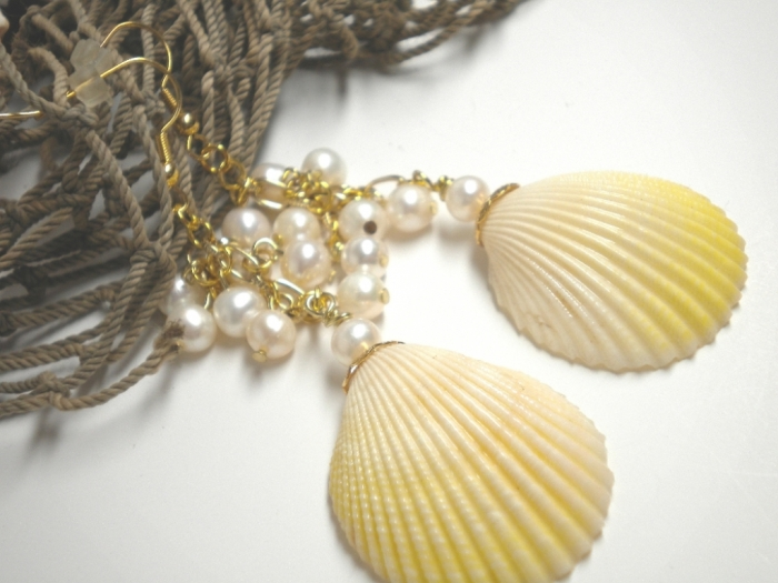 yellow-seashell-earrings9 Seashell Jewelry as a Natural Gift