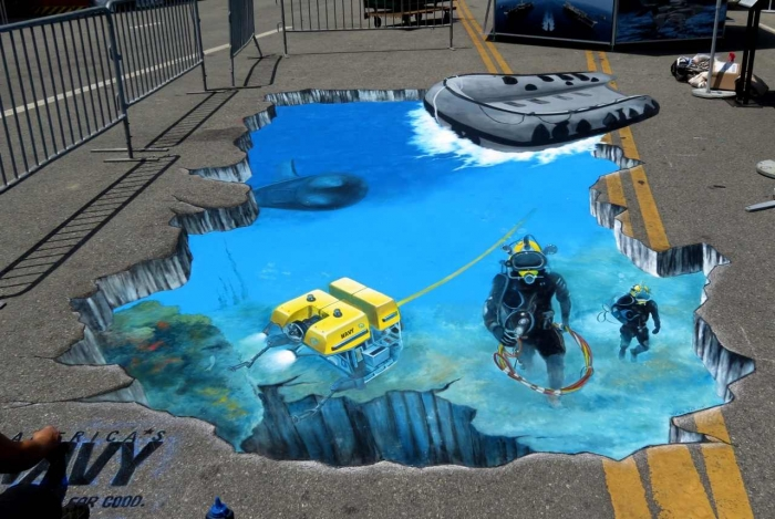 3D-Street-Painting-1 The Incredible Art of 3D Street Painting