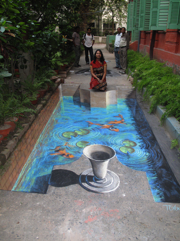3D-Street-art_-Water-in-the The Incredible Art of 3D Street Painting