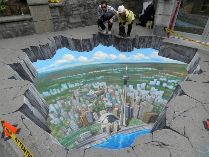 3D-street-art-chalk-painting-interactive-tracy-lee-stum-8 The Incredible Art of 3D Street Painting