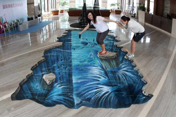 3d_street_painting_zhuhai1 The Incredible Art of 3D Street Painting