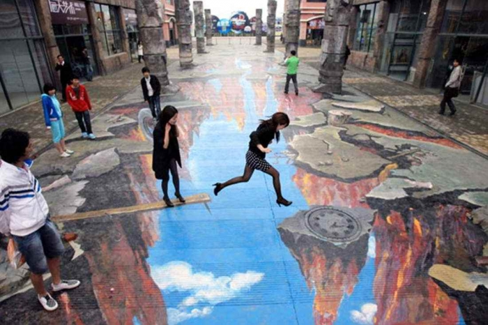 Amazing-Street-Art-3D-Graffiti-Wallpaper The Incredible Art of 3D Street Painting