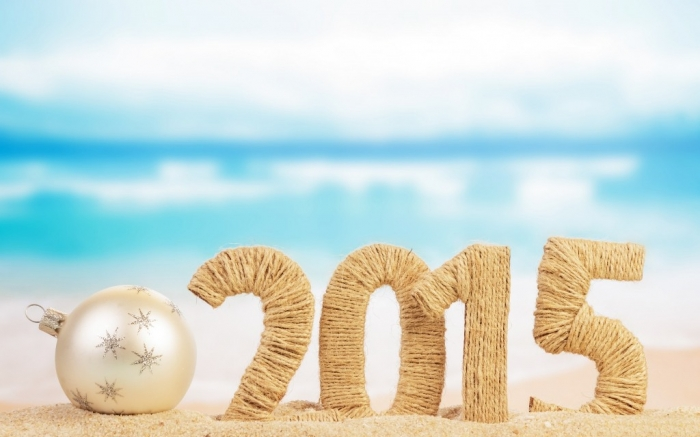 Beach-Christmas-Baubles-2015-Happy-New-Year-Images Best 25 Happy New Year Greeting Cards