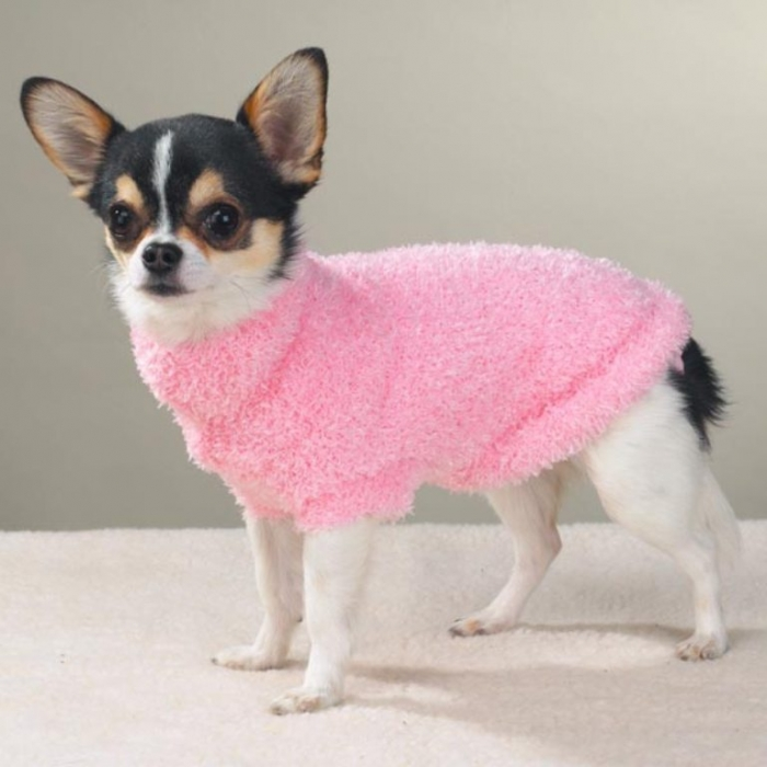 FUZZY-PINK-SWEATER Top 25 Breathtaking Dog Sweaters for Your Dog
