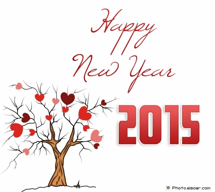Happy-New-Year-2015-Tree Best 25 Happy New Year Greeting Cards