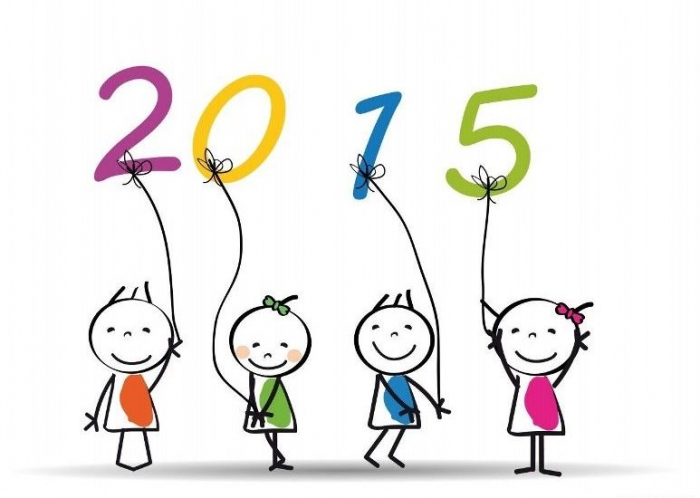 Happy-new-year-kids-drawing-2015 Best 25 Happy New Year Greeting Cards