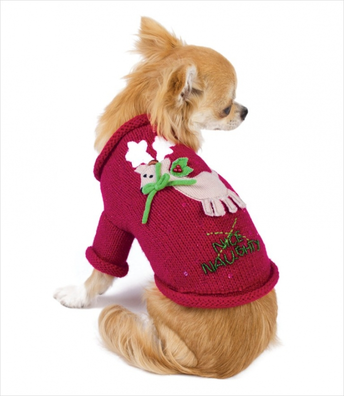 ON_NaughtyNiceSwtrDog_pu Top 25 Breathtaking Dog Sweaters for Your Dog