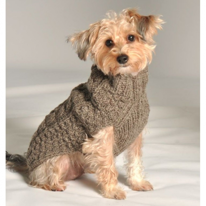 cable-knit-dog-sweater-grey-1 Top 25 Breathtaking Dog Sweaters for Your Dog