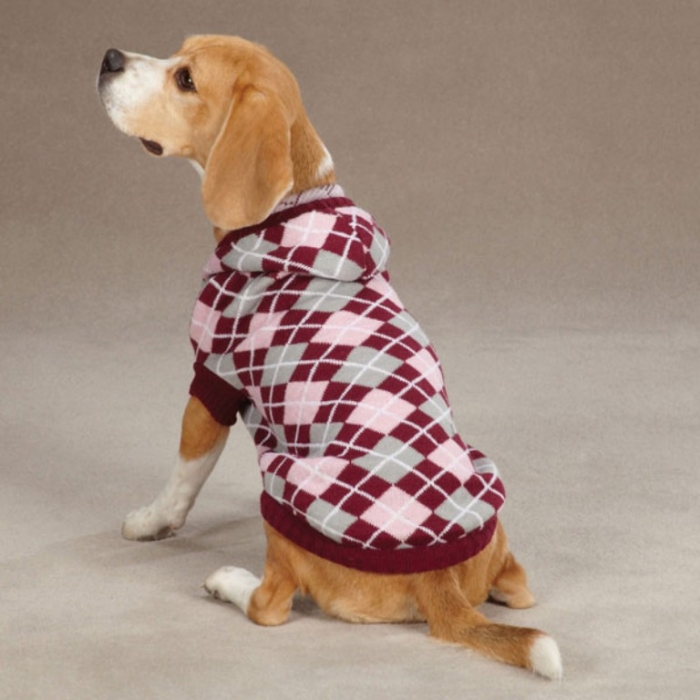 custom_hand_knitted_hooded_argyle_strong_style_color_b82220_dog_strong_sweaters_for_winter_raspberry Top 25 Breathtaking Dog Sweaters for Your Dog