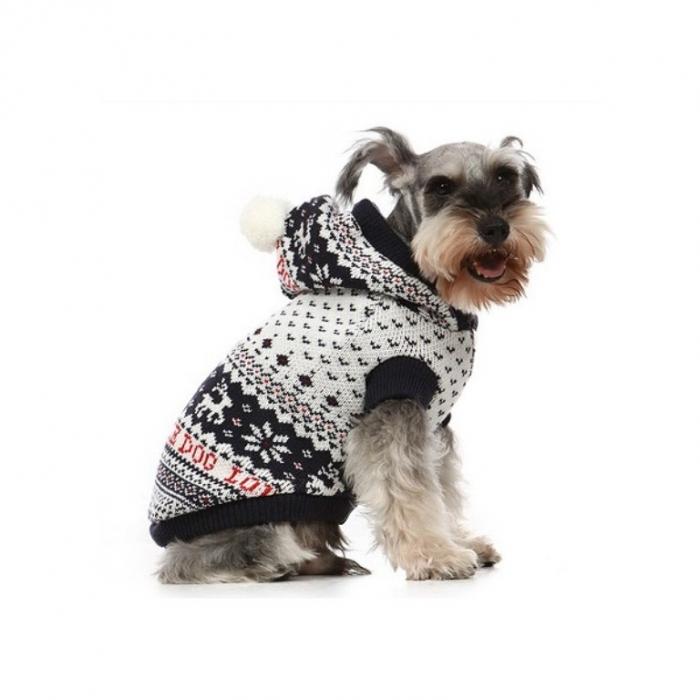 Вязаный свитер для собаки