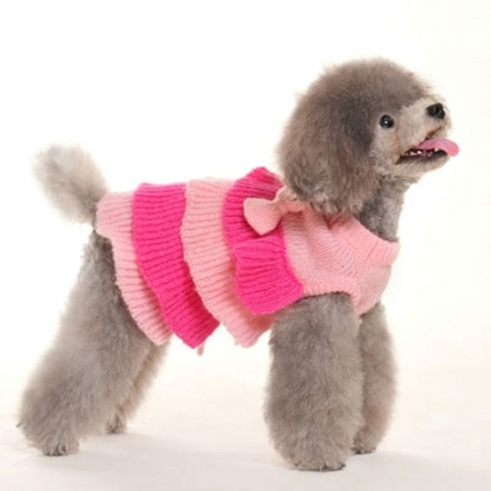 ruffle-tiered-dog-sweater-dress-dogo-1 Top 25 Breathtaking Dog Sweaters for Your Dog