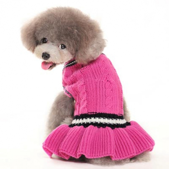 school-girl-dog-sweater-dress-dogo-1 Top 25 Breathtaking Dog Sweaters for Your Dog