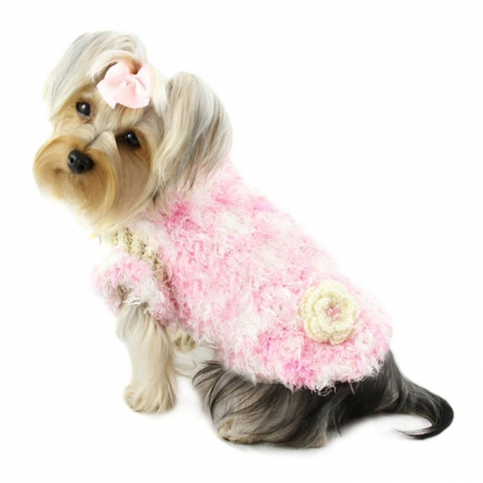 sweet-fluffy-chenille-turtleneck-dog-sweater-1 Top 25 Breathtaking Dog Sweaters for Your Dog