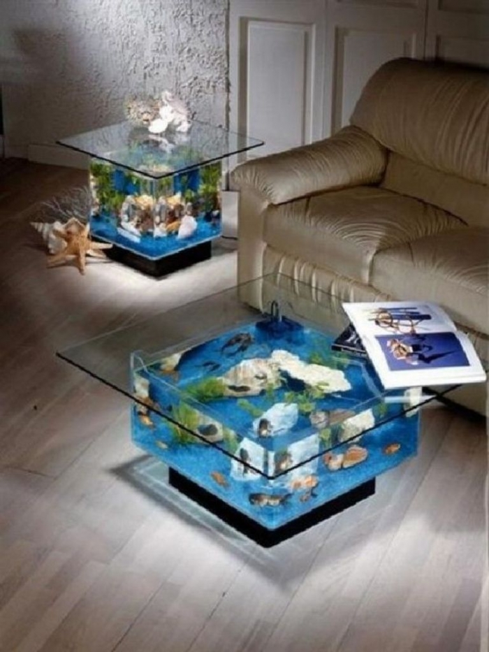 Aquarium-Ideas-Coffee-Table-How-to-Decorate-a-Coffee-Table-with-30-Picture-Inspiration How to Decorate Your Boring Fish Tank