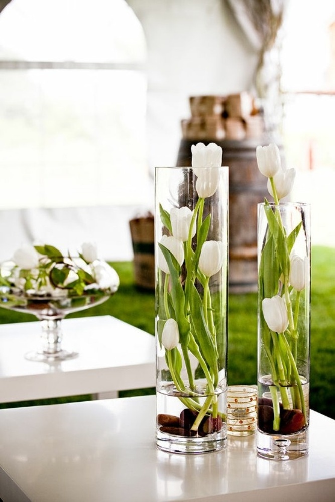 easter-white-tulip-centerpieces How to Increase the Beauty of White Tulip Flowers