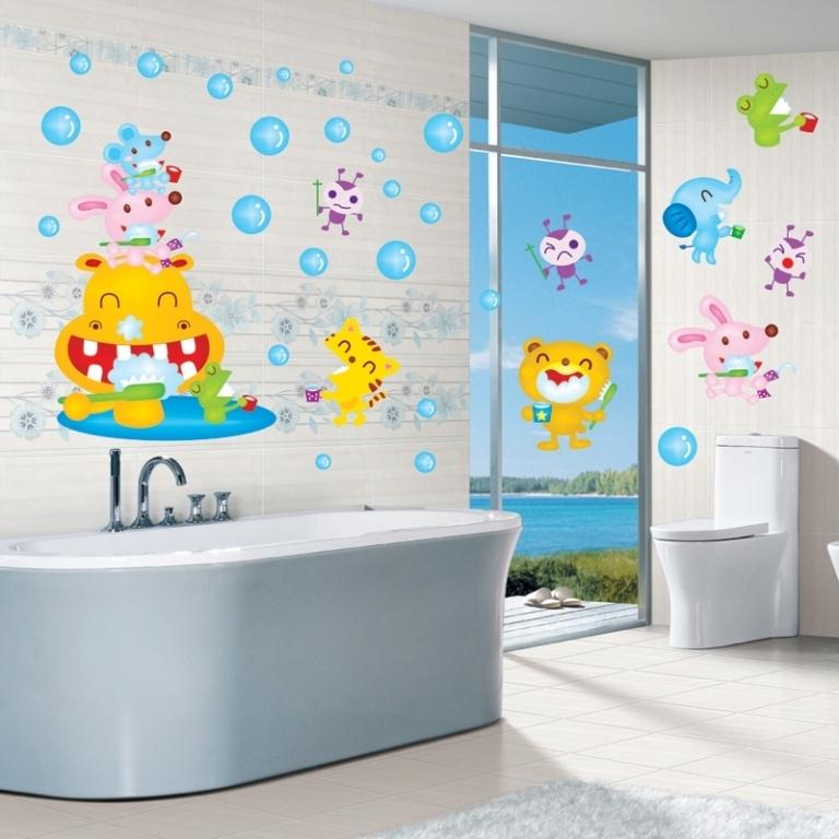 46+ Awesome & Dazzling Kids' Bathroom Design Ideas 2019