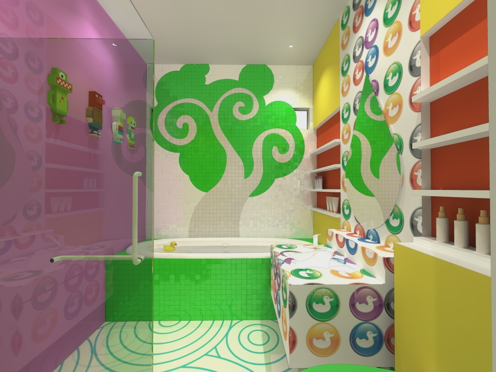 35-Awesome-Dazzling-Kids'-Bathroom-Design-Ideas-2015-6 46+ Awesome & Dazzling Kids' Bathroom Design Ideas 2019