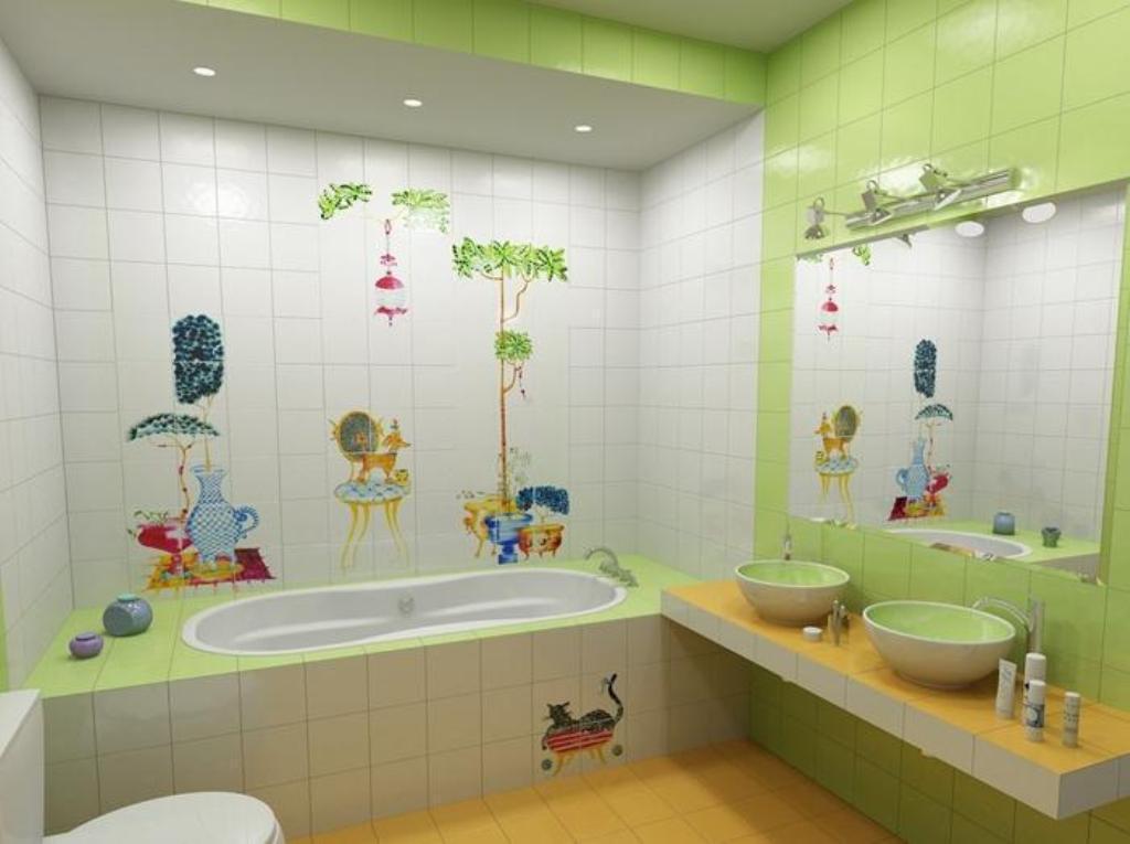 awesome kids bathroom storage ideas | 46+ Awesome & Dazzling Kids' Bathroom Design Ideas 2019 ...