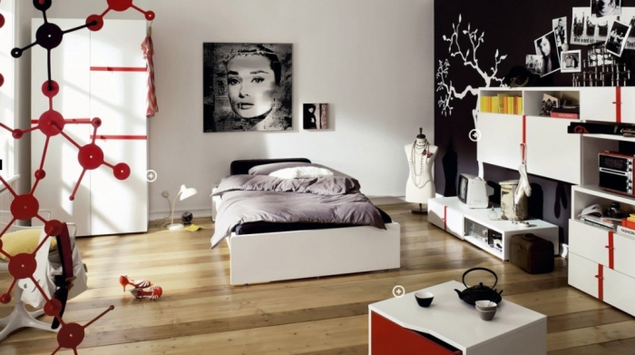 35-Awesome-Dazzling-Teens'-Bedroom-Design-Ideas-2015-22 11 Tips on Mixing Antique and Modern Décor Styles