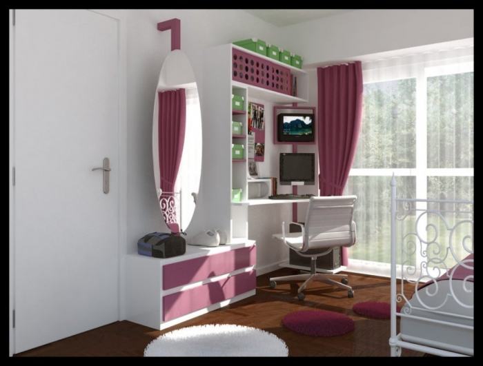 35-Awesome-Dazzling-Teens'-Bedroom-Design-Ideas-2015-28 11 Tips on Mixing Antique and Modern Décor Styles