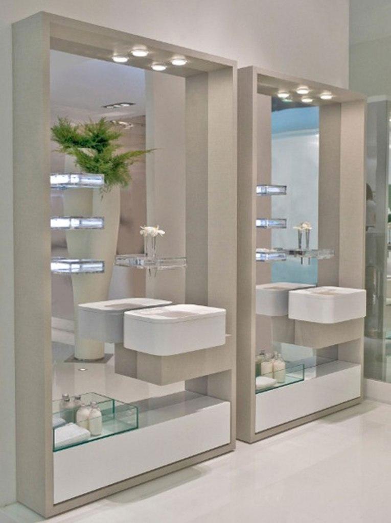 35-Charming-Fabulous-Bathroom-Mirror-Designs-2015-8 50+ Charming & Fabulous Bathroom Mirror Designs 2021