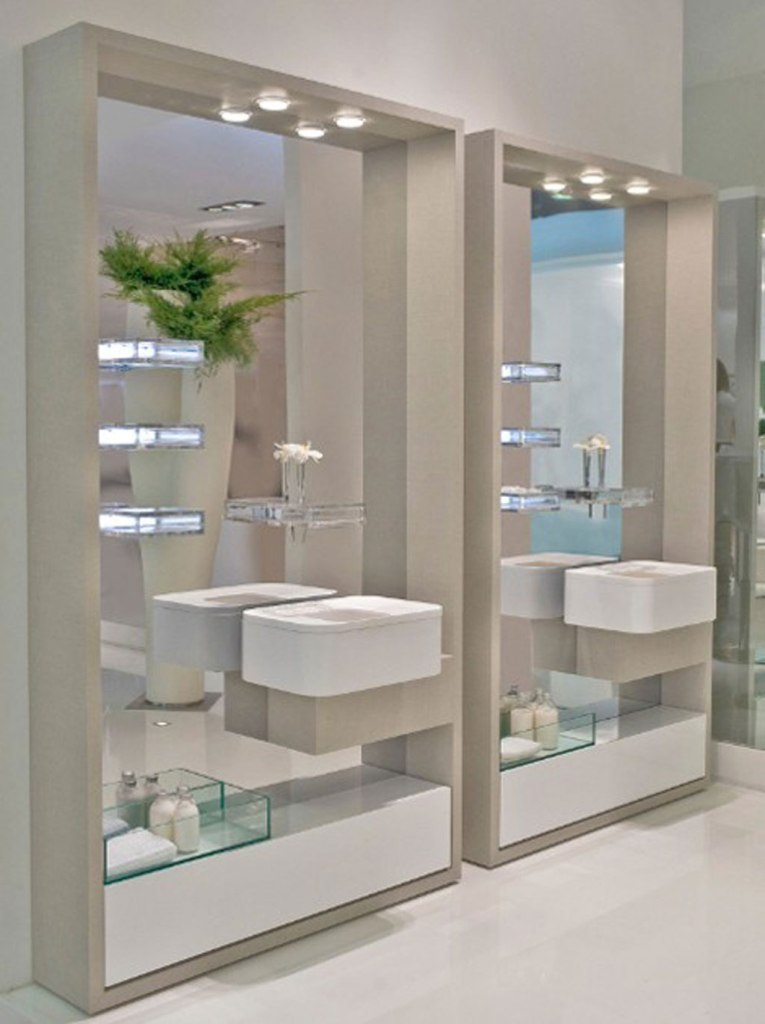 35-Charming-Fabulous-Bathroom-Mirror-Designs-2015-8 50+ Charming & Fabulous Bathroom Mirror Designs 2020