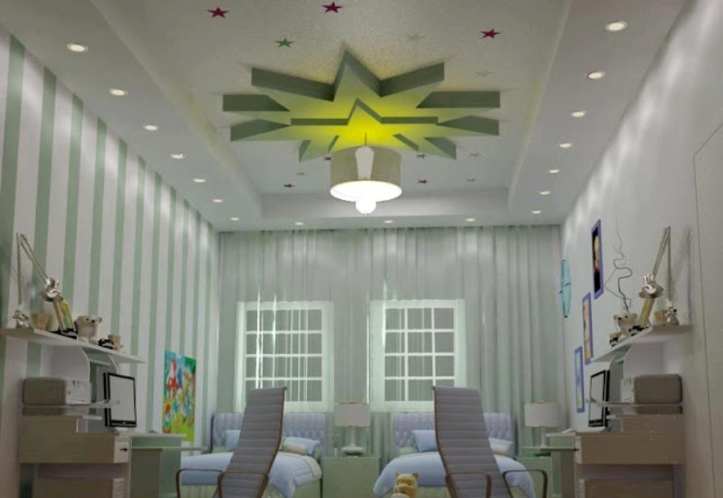 35-Magnificent-Dazzling-Ceiling-Design-Ideas-for-Kids-2015-2 36 Magnificent & Dazzling Ceiling Design Ideas for Kids 2019