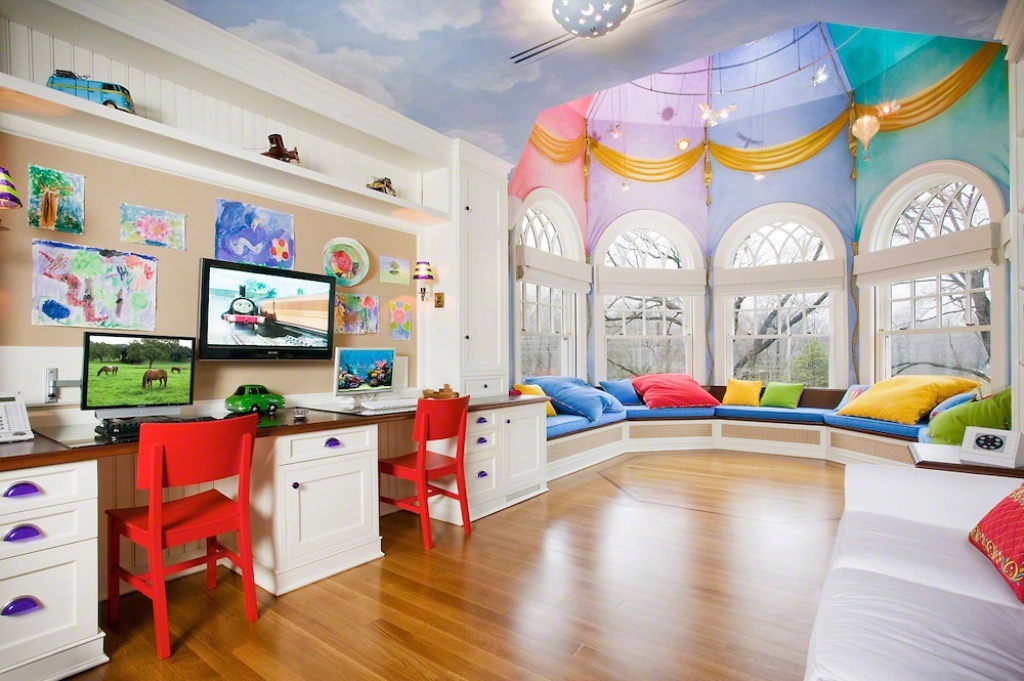 35-Magnificent-Dazzling-Ceiling-Design-Ideas-for-Kids-2015-25 36 Magnificent & Dazzling Ceiling Design Ideas for Kids 2019